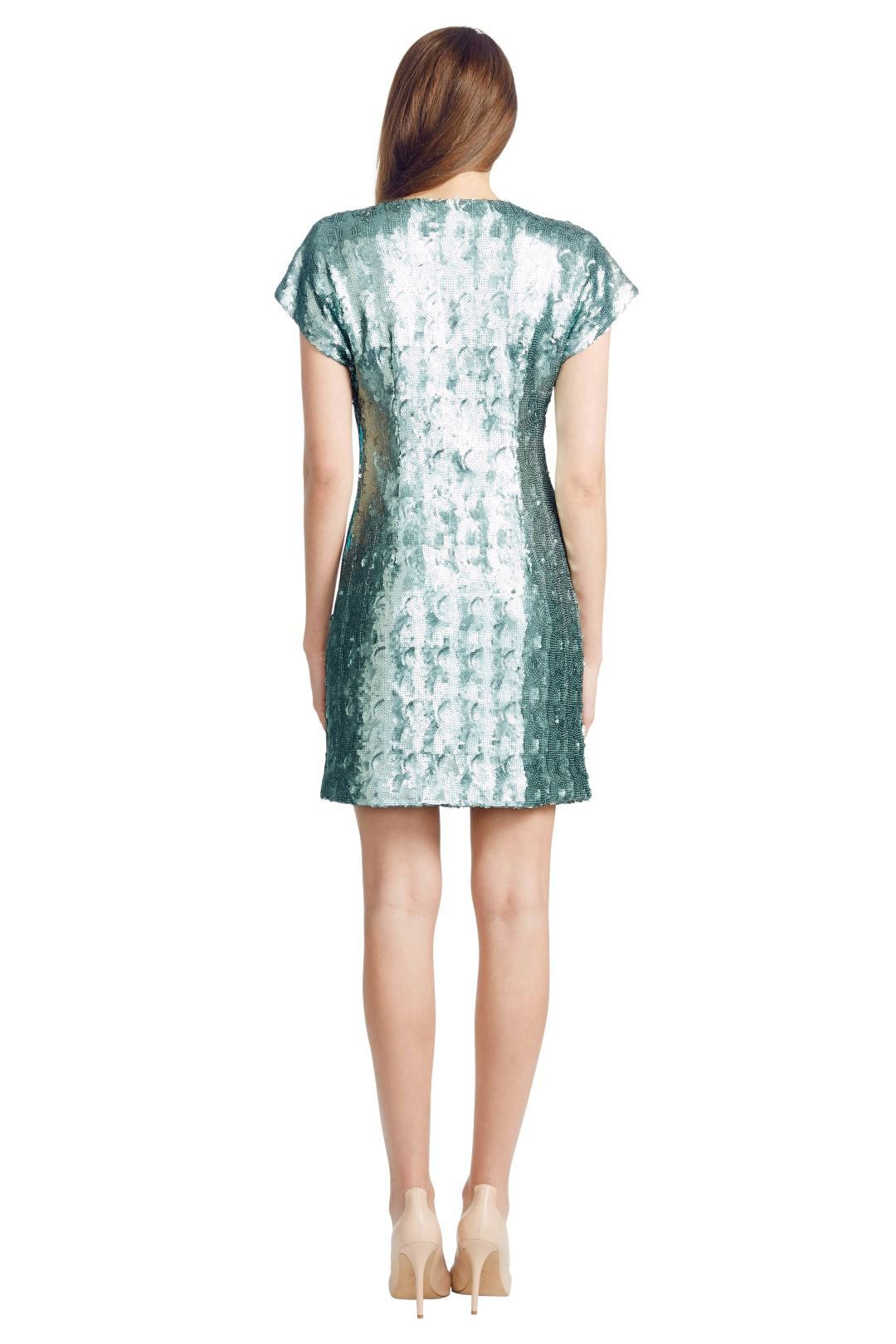 Wayne Cooper - Mermaid Shift Dress - Green - Back