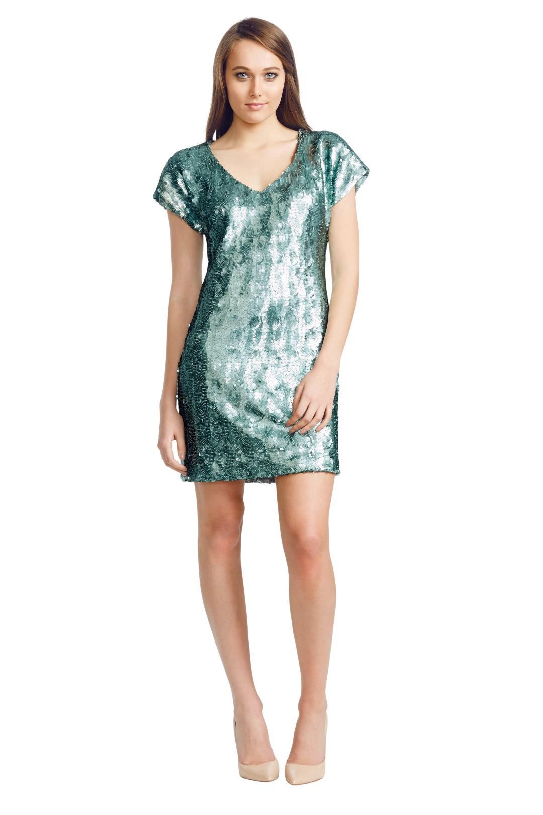 Wayne Cooper - Mermaid Shift Dress - Green - Front