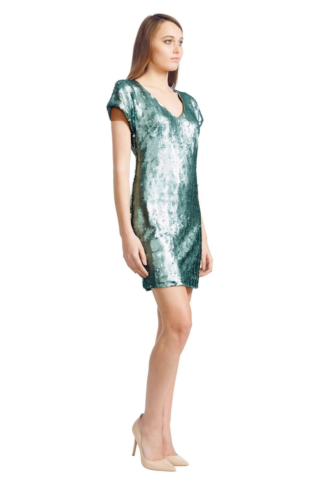 Wayne Cooper - Mermaid Shift Dress - Green - Side