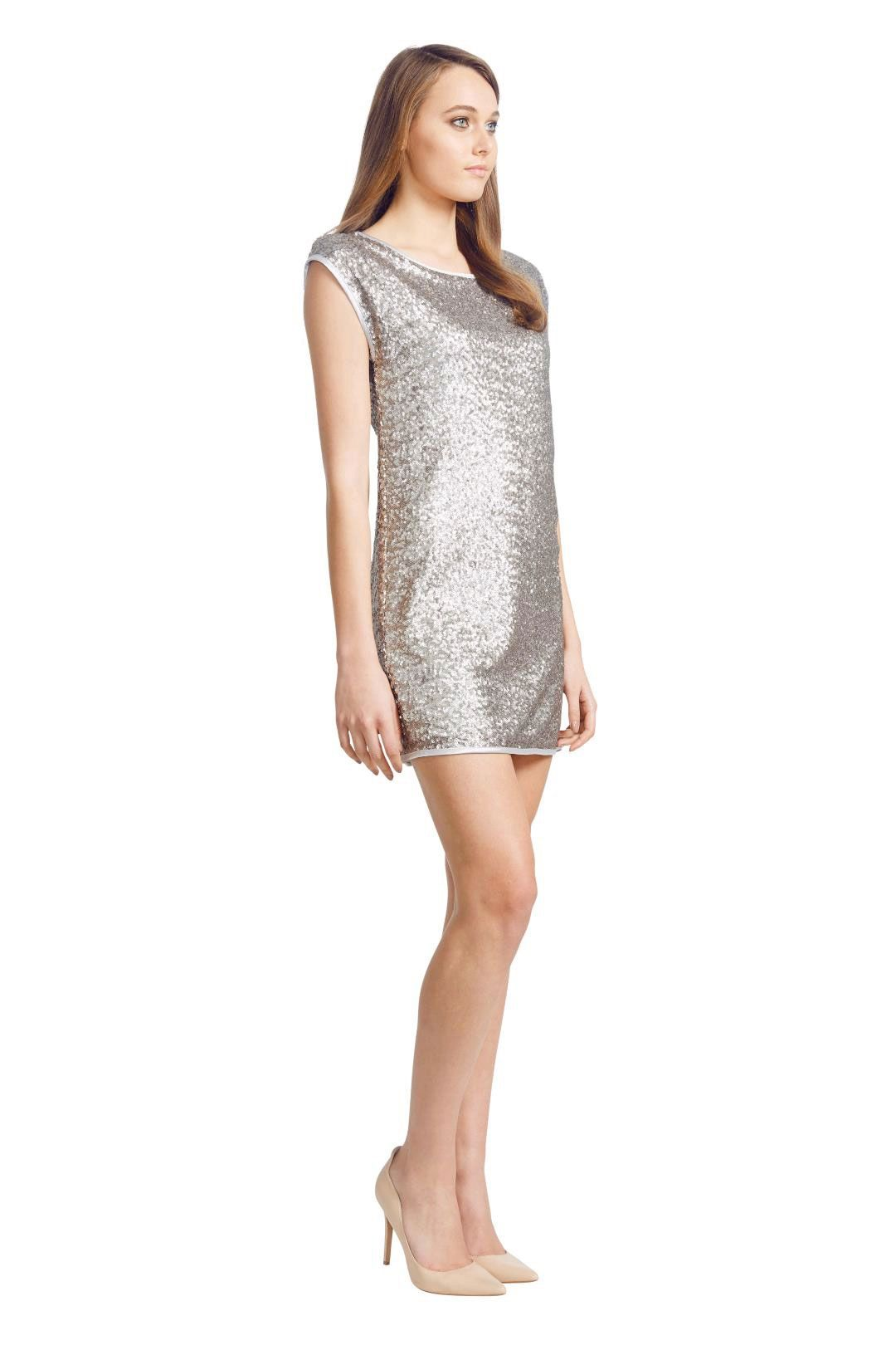 Wayne Cooper - Scoop Neck Dress - Silver - Front