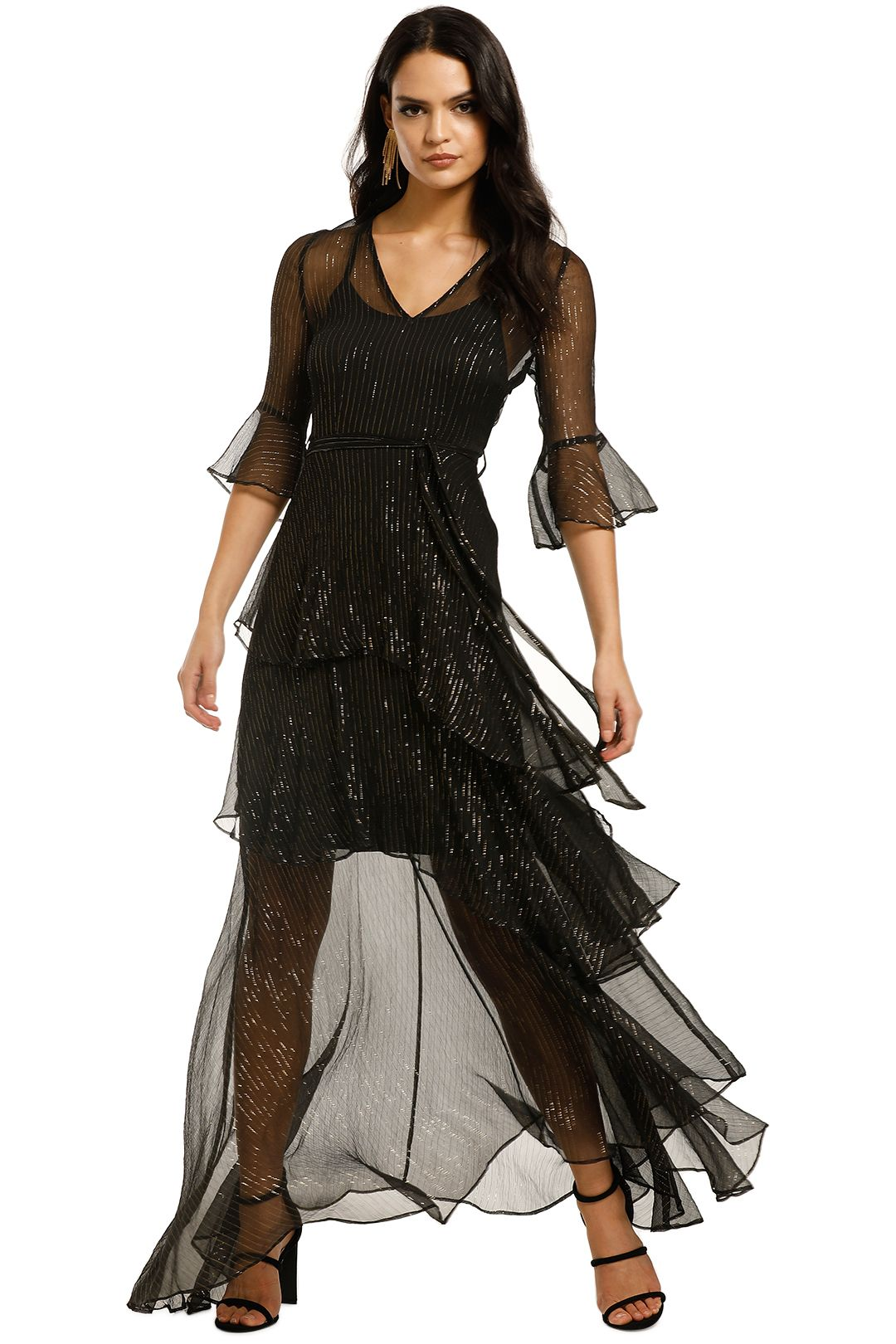 We-Are-Kindred-Arabella-Silk-Maxi-Dress-Black-Front