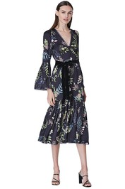 We-Are-Kindred-Eloise-Button-Through-Dress-Black-Delphinium-Front