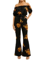We-Are-Kindred-Ibiza-Top-and-Pant-Set-Noir-Sunflowers-Front