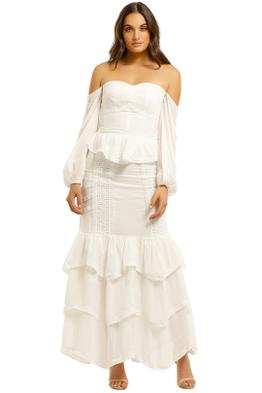 We-Are-Kindred-Sorrento-Bustier-Top-and-Skirt-Set-Ivory-Front