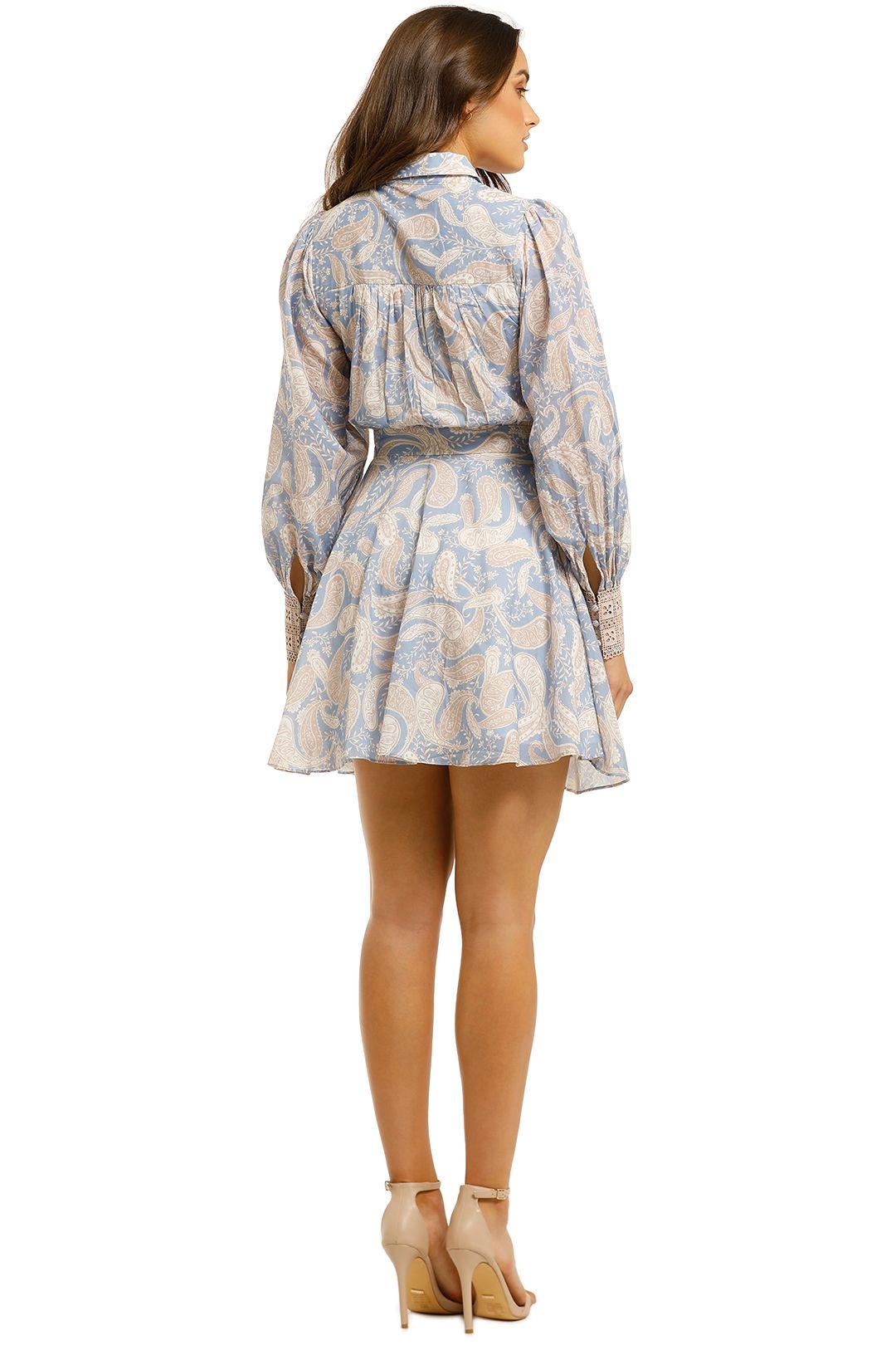 We-Are-Kindred-Sorrento-Mini-Dress-Cornflower-Paisley-Back