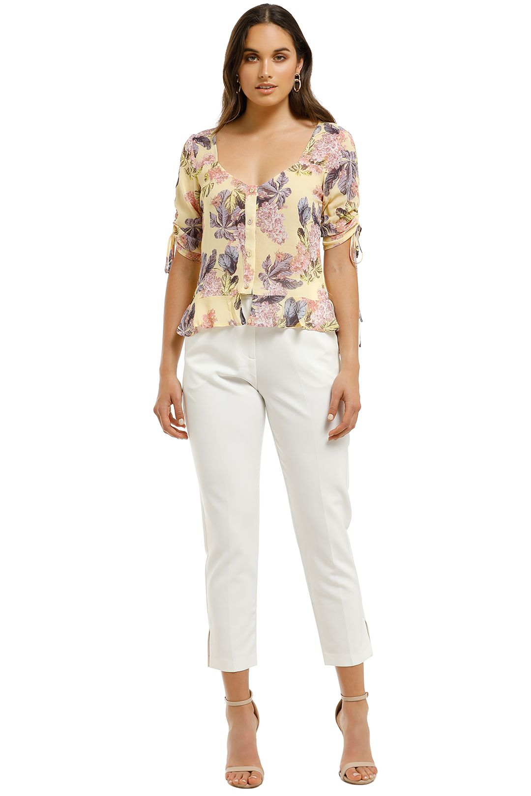 We-Are-Kindred-Stevie-Sweetheart-Blouse-Lemon-Blossoms-Front