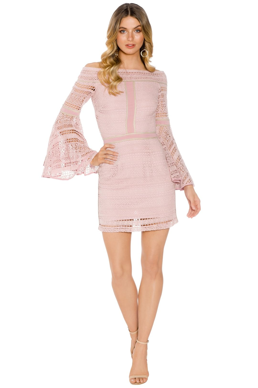 We Are Kindred - Daisy Lace Dress - Pink - Front