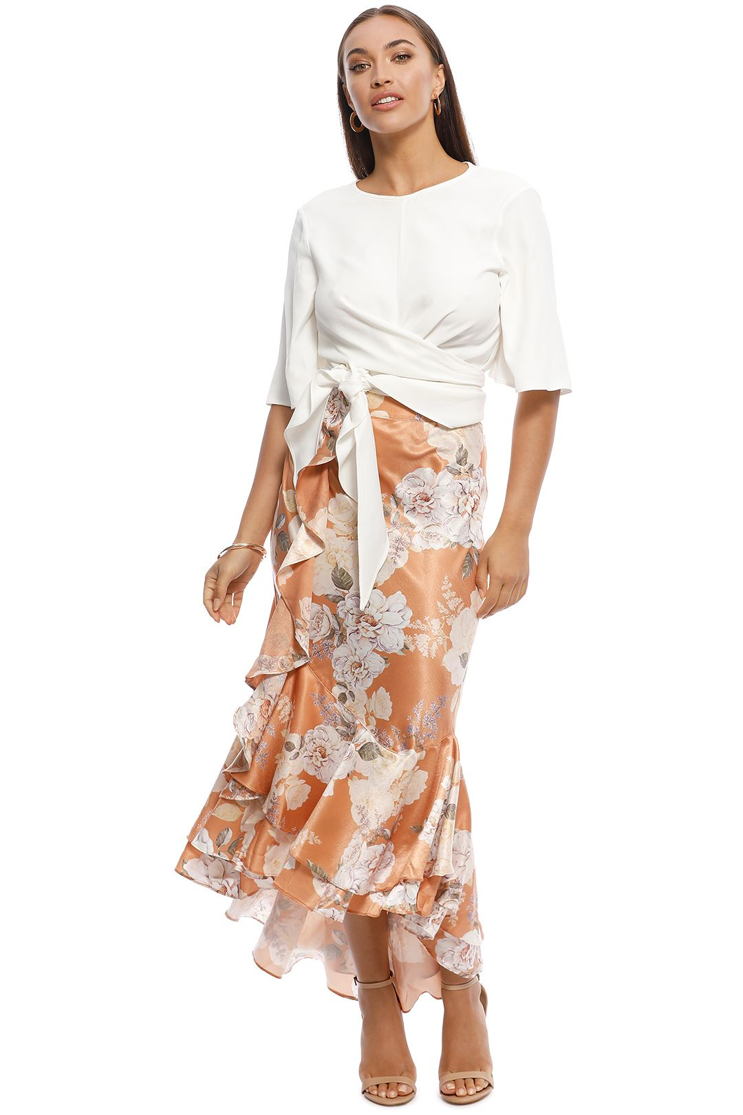 We Are Kindred - Frenchie Bias Skirt - Peach Blossom - Front