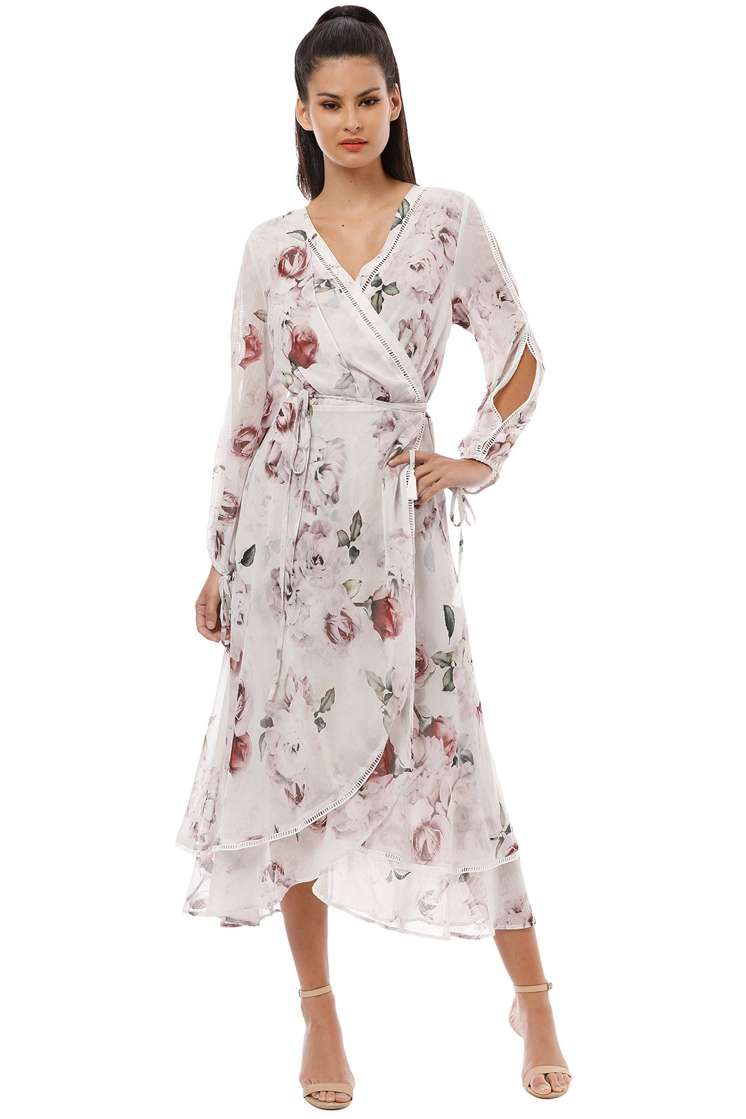 We Are Kindred - Jemima Primrose Dress - White Rose - Front