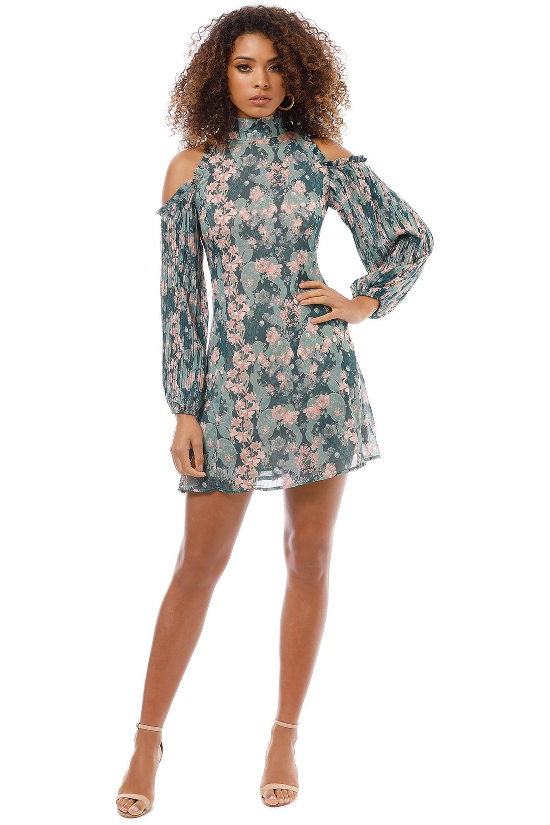 We Are Kindred - Laetitia Pleat Sleeve Mini Dress - Nouveau - Front