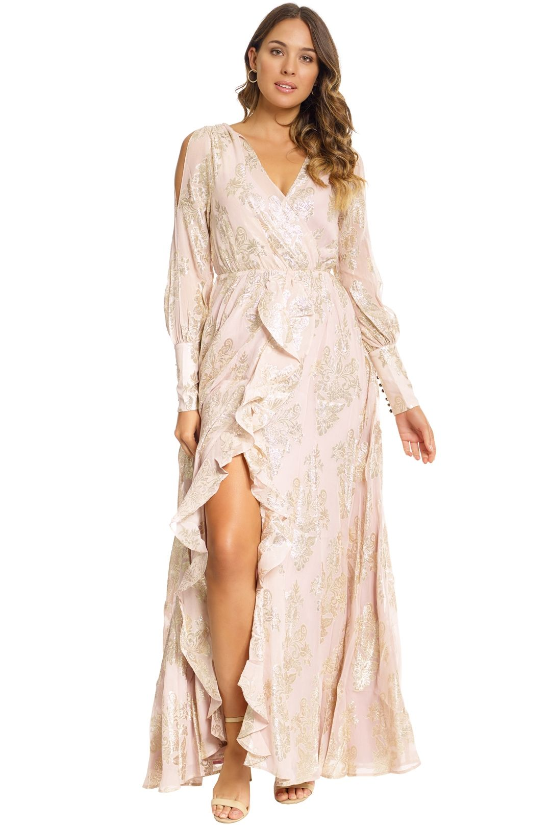 We Are Kindred - Lotus Maxi Dress - Blush - Front
