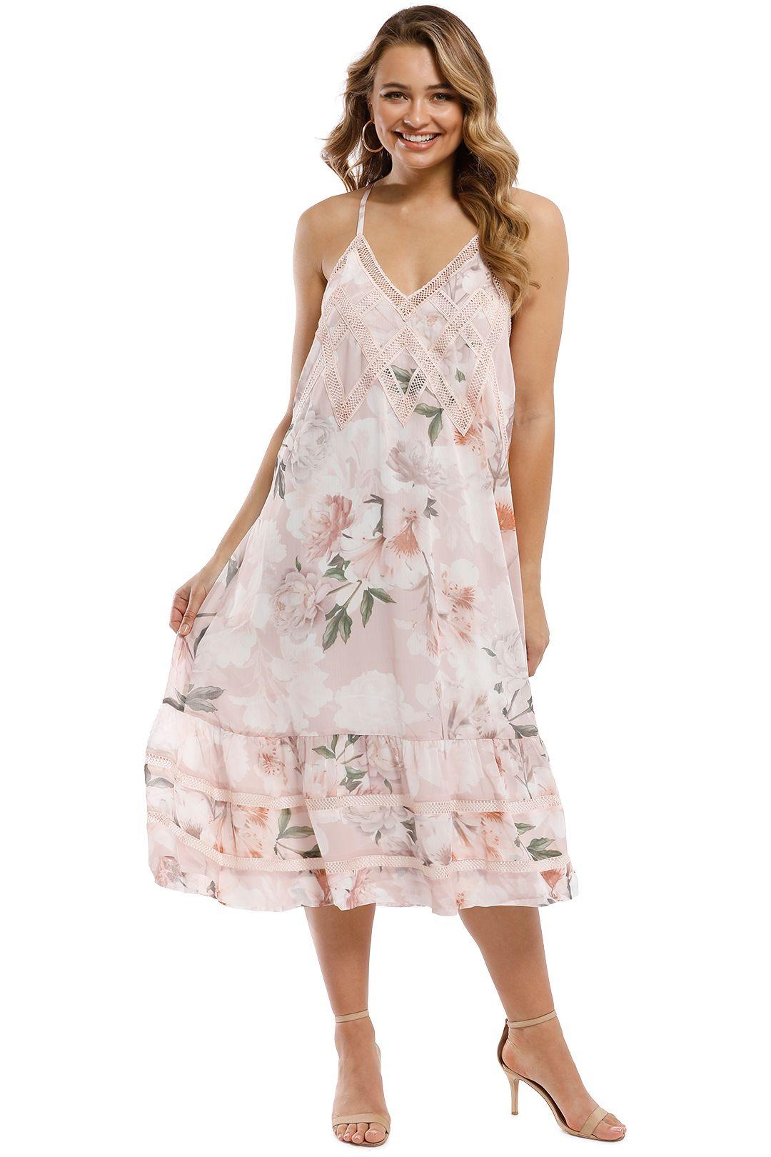 We Are Kindred - Magnolia Midi Dress - Blush Tigerlily - Front