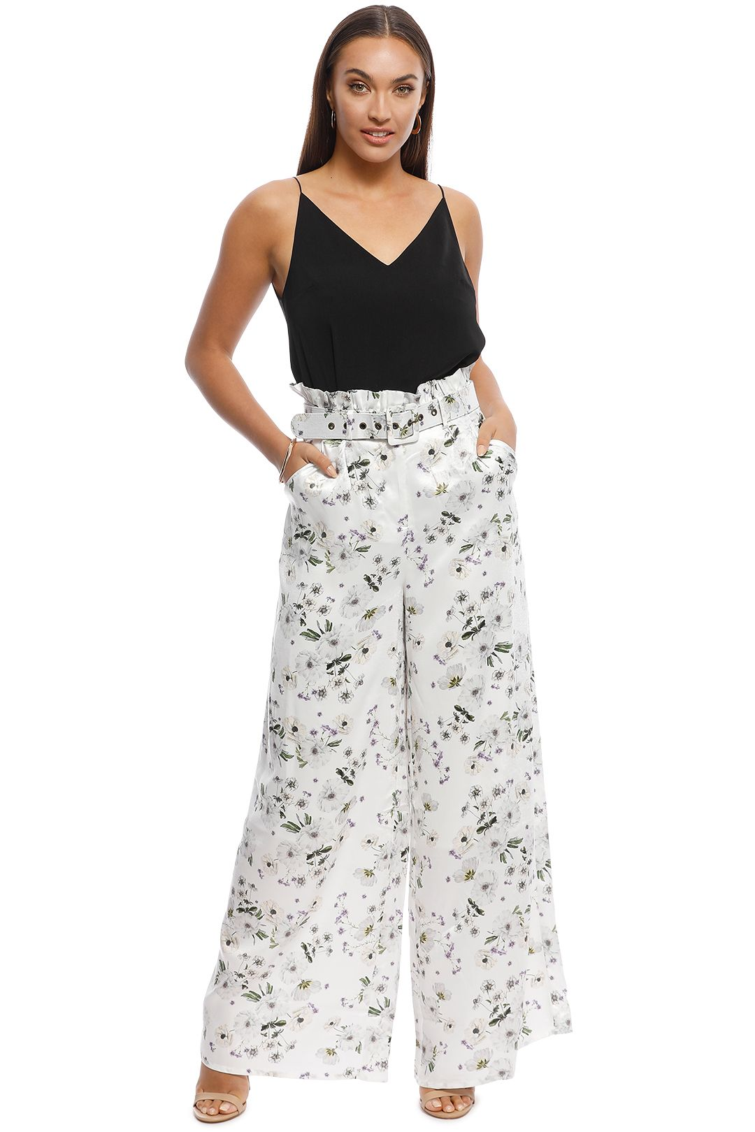 We are Kindred - Palazzo Pant - White Bouquet - Front
