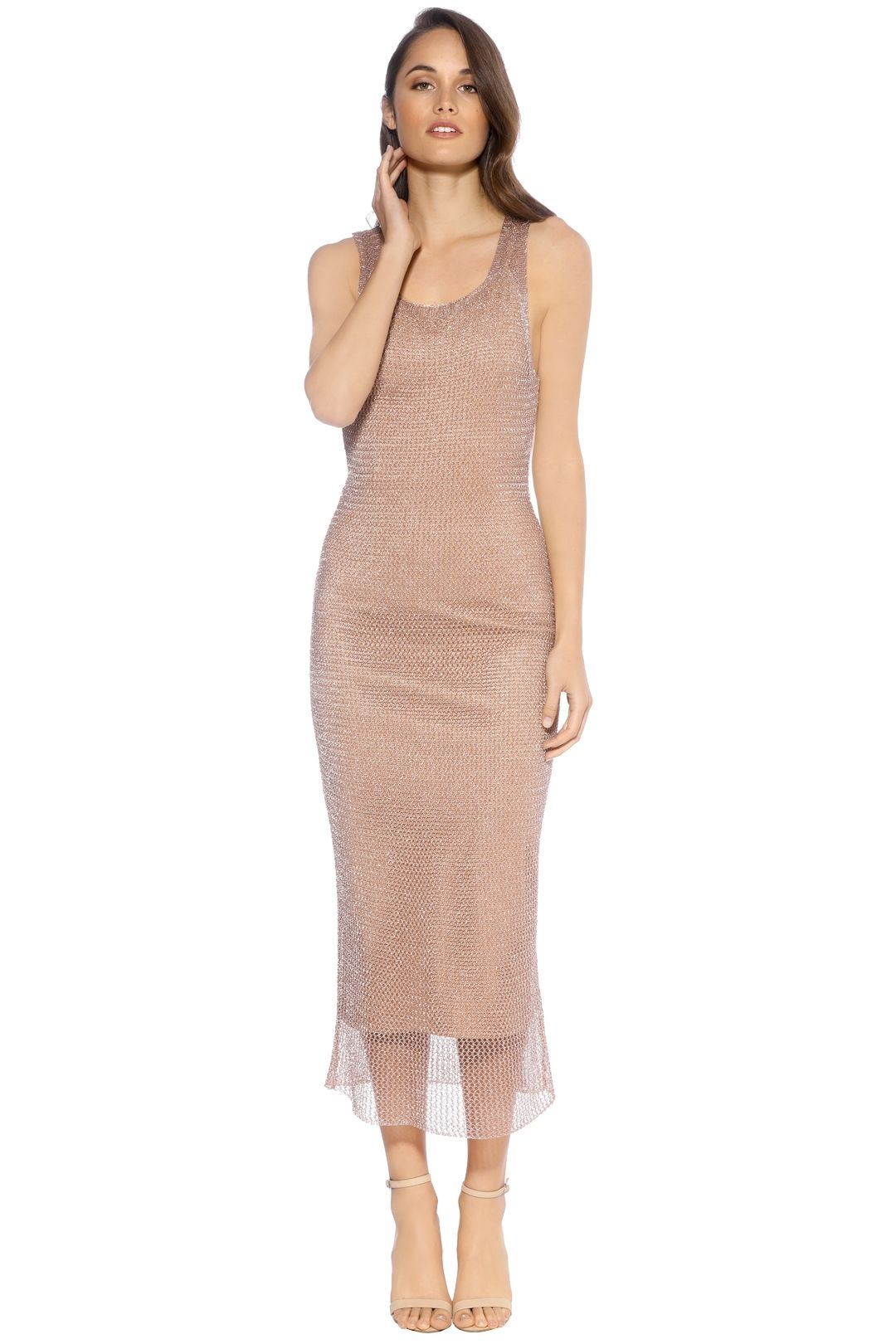 We Are Kindred - Steel Magnolia Singlet Dress - Rose Gold - Front
