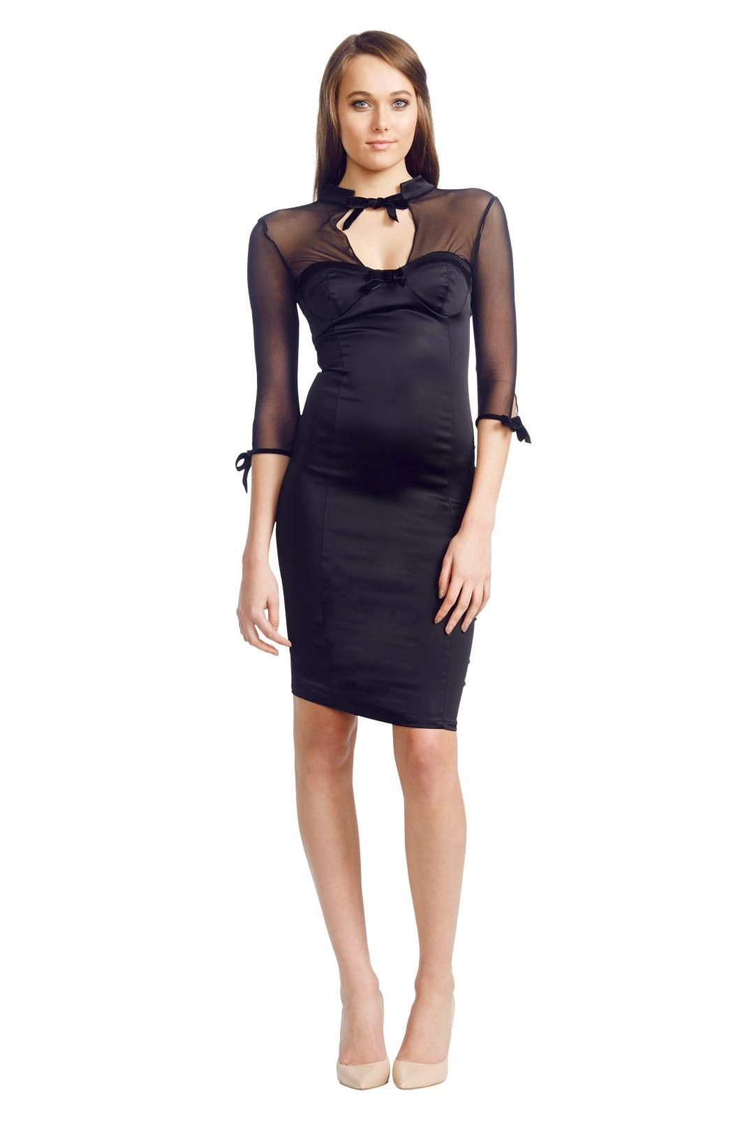Wheels and Dollbaby - Opium Dress - Black - Front