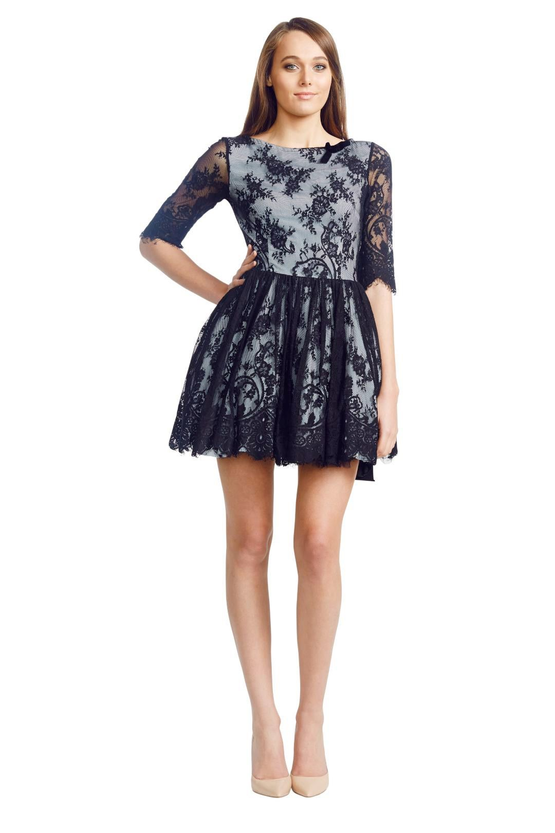 Wheels & Dollbaby - Picnic Dress - Black - Front