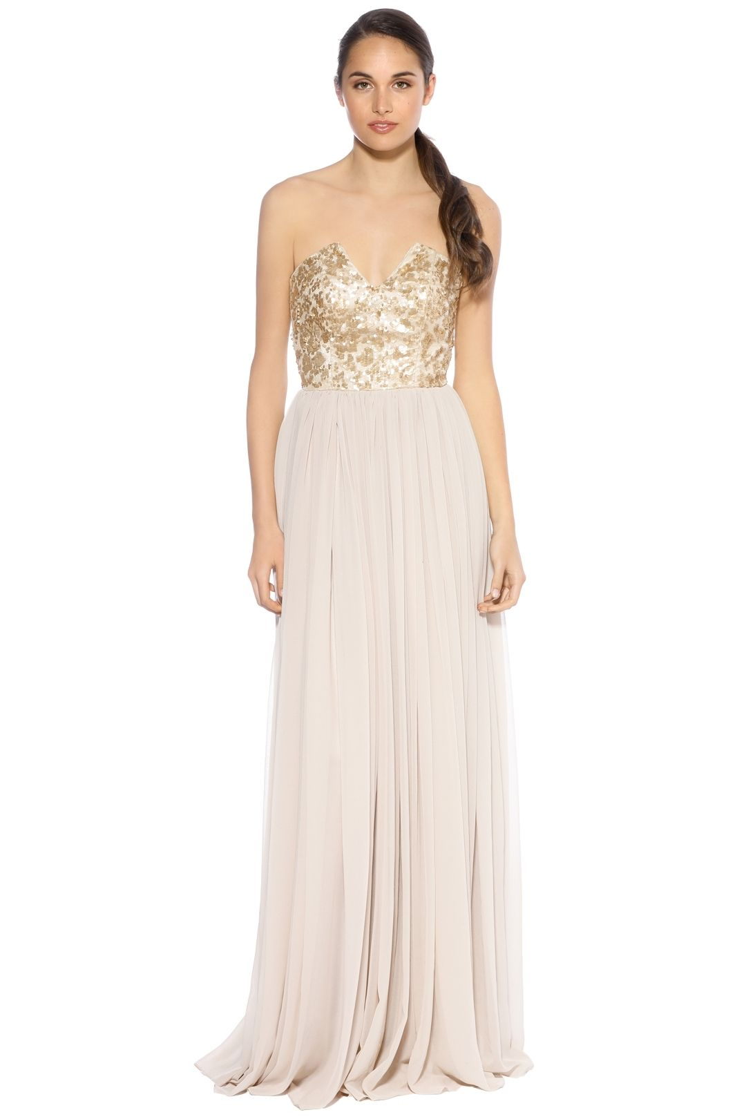When Freddie Met Lilly - Susannah Sequin Gown - Gold - Front