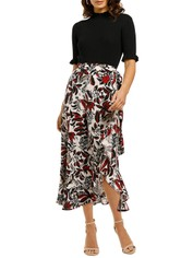 Whistles-Assorted-Leaves-Wrap-Skirt-Multi-Front
