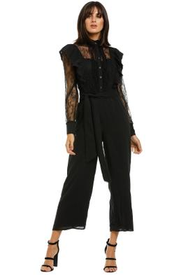 Whistles-Mixed-Lace-Frill-Jumpsuit-Black-Front