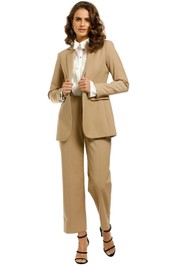 Whistles-Sonia-Single-Breasted-Jacket-and-Pant-Set-Camel-Front
