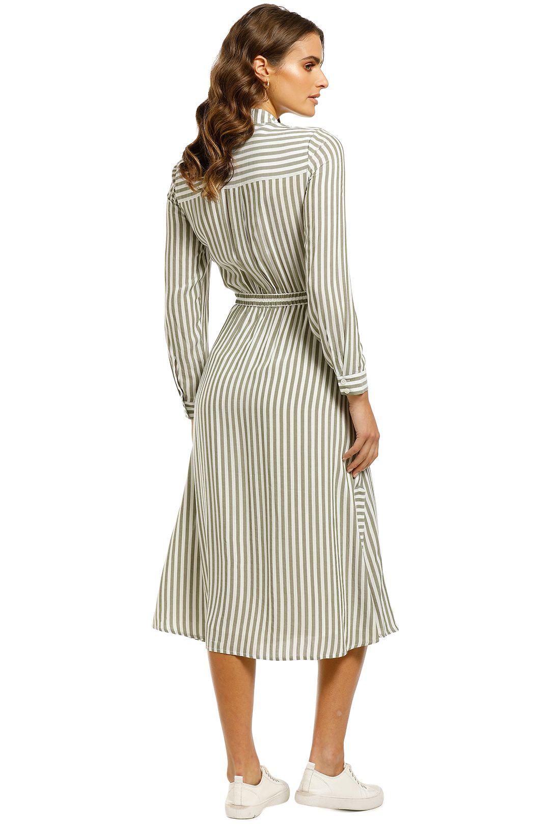 Whistles-Stripe-Wrap-Shirt-Dress-Multi-Back