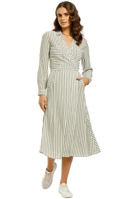 Whistles-Stripe-Wrap-Shirt-Dress-Multi-Front