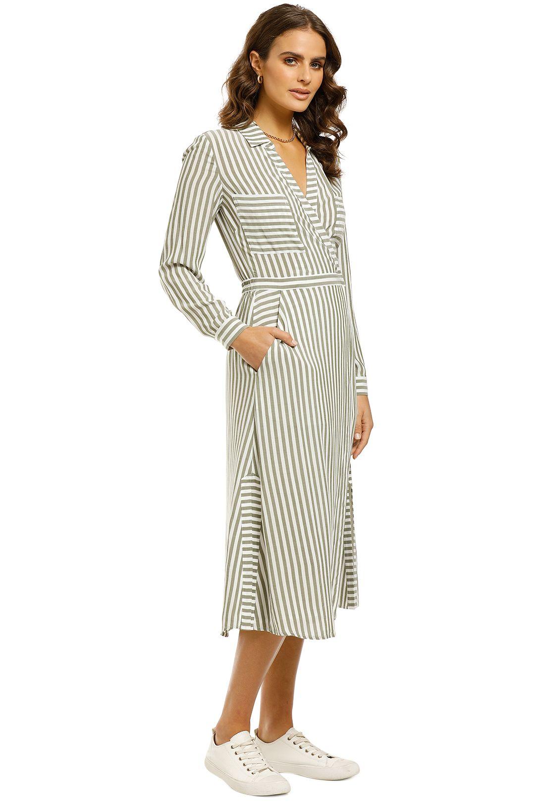 Whistles-Stripe-Wrap-Shirt-Dress-Multi-Side