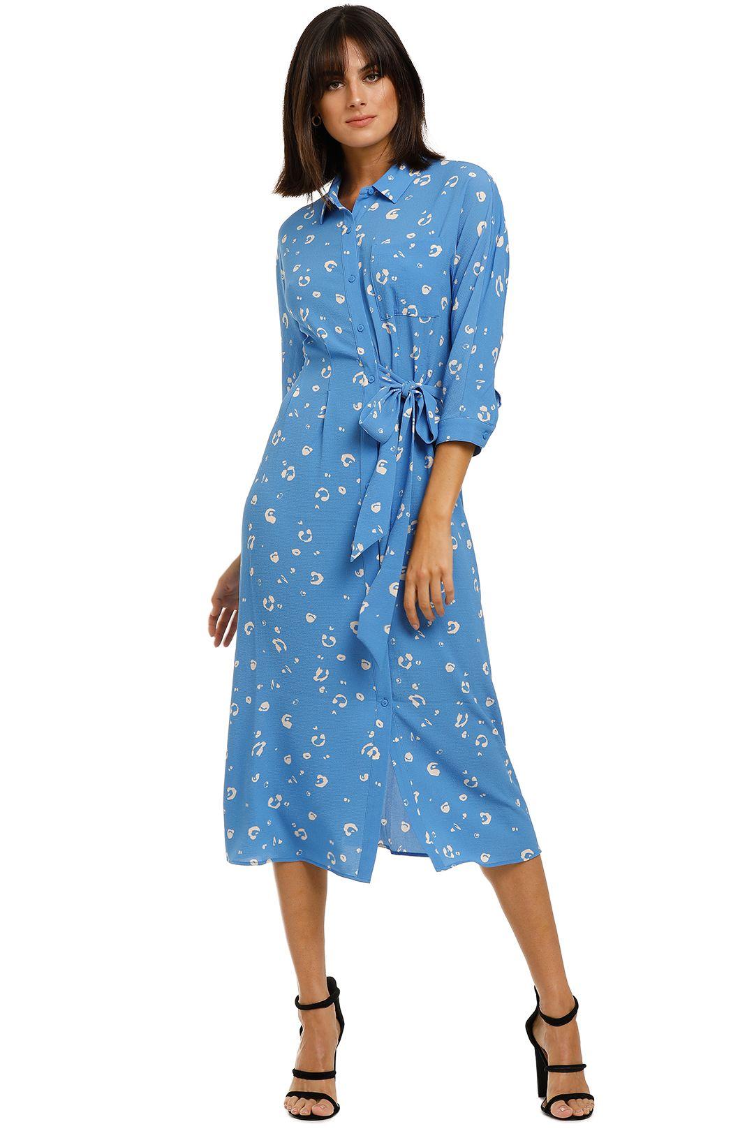 Whistles-Watercolour-Animal-Dress-Blue-Multi-Front