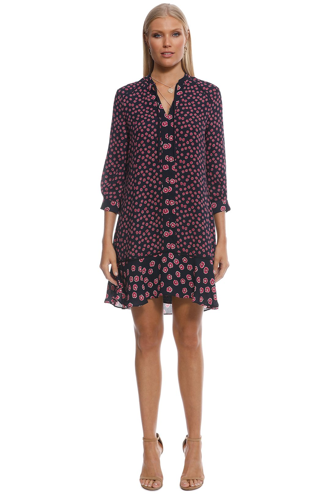 Whistles - Lenno Print Shirt Dress - Black - Front