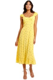 Whistles Forget Me Not Dress Yellow
