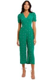 Whistles Romantic Floral Print Jumpsuit Green