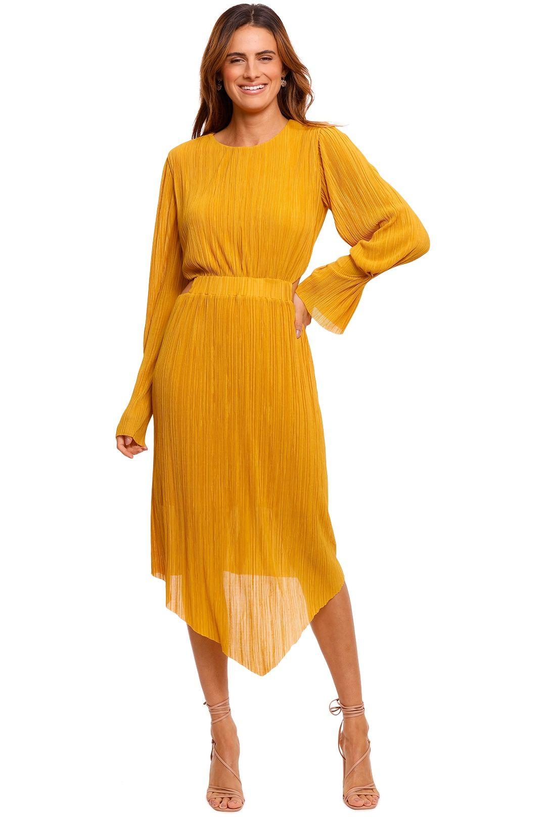 Willow Pleat Cut Away Dress Zest