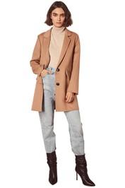 Wish-Essential-Coat-Camel-Front