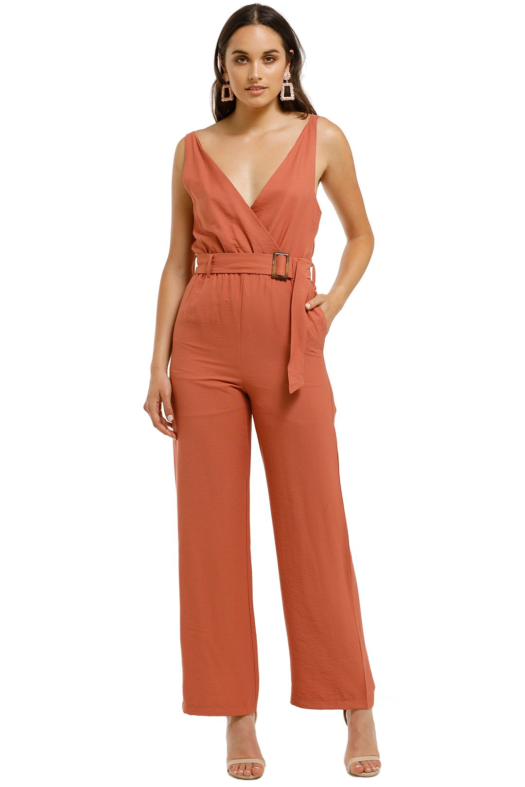 Wish-Frida-Jumpsuit-Terracotta-Front
