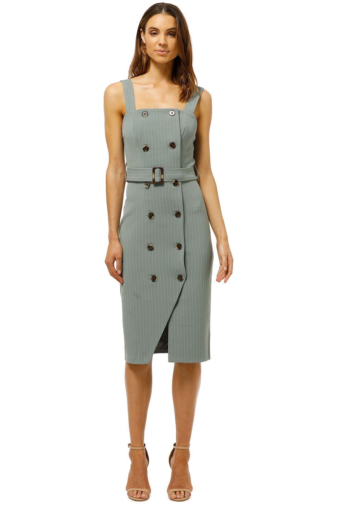 Wish-Laneway-Midi-Dress-Sage-Pinstripe-Front