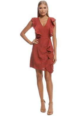 Wish - Endless Love Ruffle Dress - Rust - Front