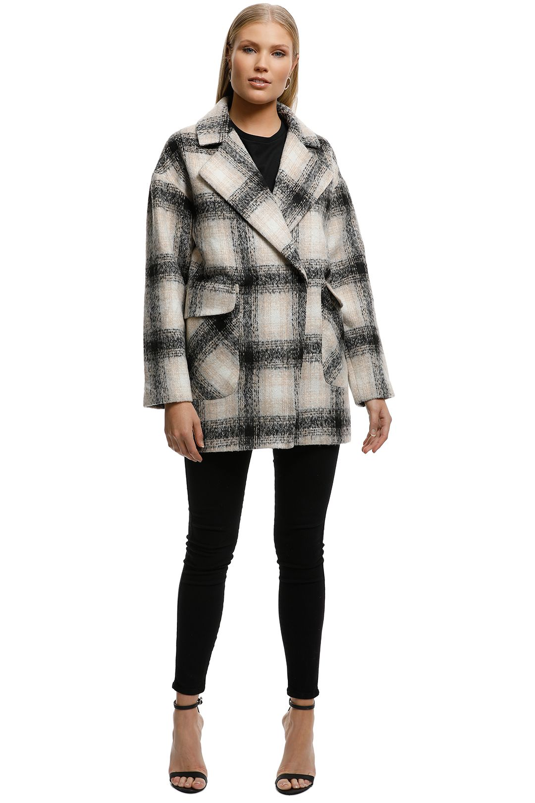 Wish - Wire Coat - Check - Front