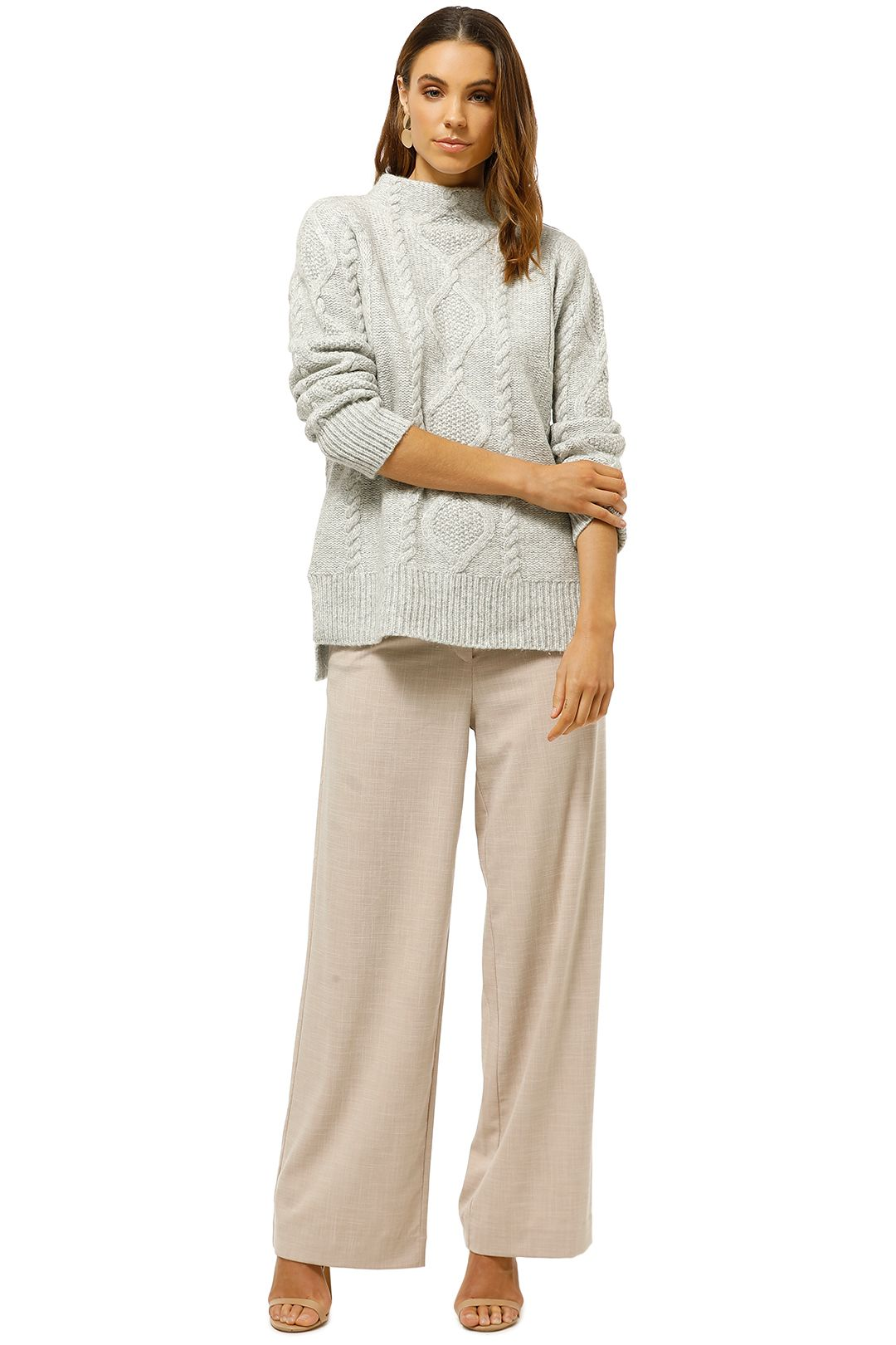 Witchery-Cable-Funnel-Knit-Grey-Front