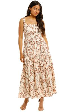 Witchery-Fitted-Tiered-Dress-Perennial-Print-Front