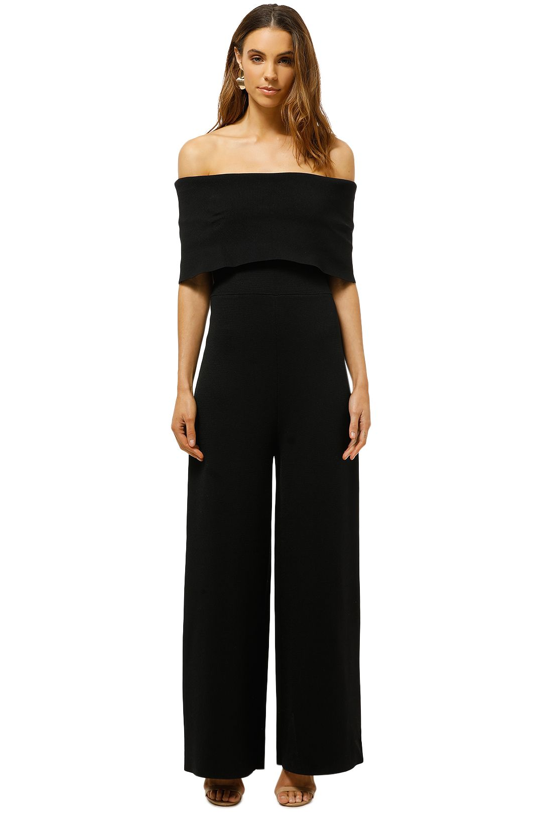 Witchery-Fold-Over-Knit-Jumpsuit-Black-Front