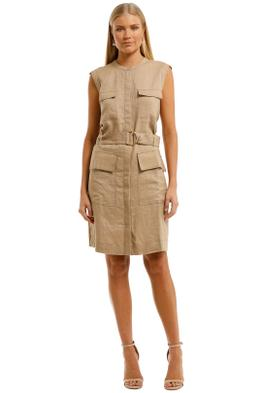 Witchery-Utility-Mini-Dress-Cappucino-Front