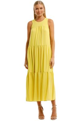 Witchery-Yoke-Tiered-Dress-Citron-Front