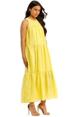 Witchery-Yoke-Tiered-Dress-Citron-Side