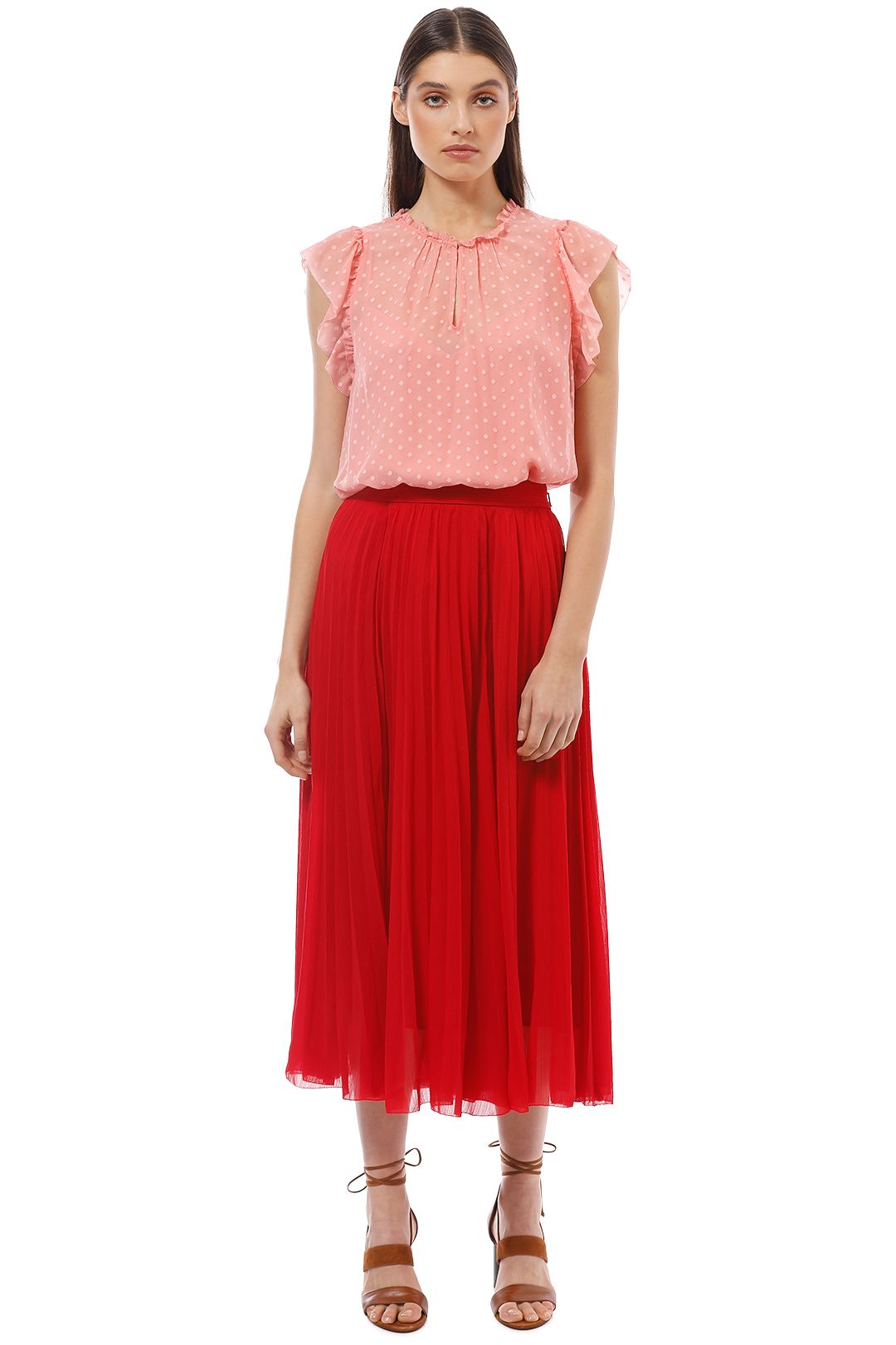 Witchery - Romantic Frill Top - Pink - Front