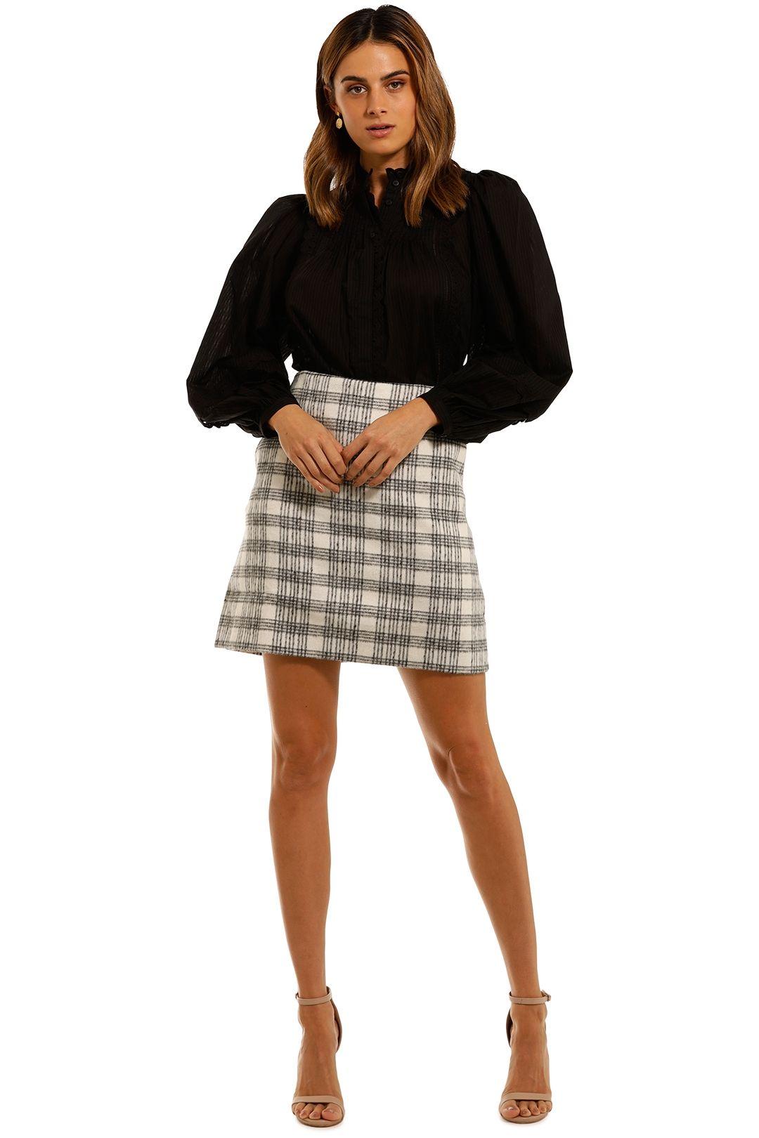 Witchery Check Mini Skirt a line
