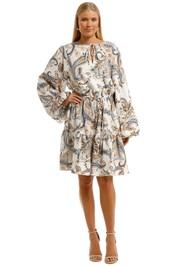 Witchery Linen Printed Dress Marigold Multi