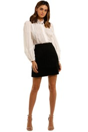 Witchery Multistitch Mini Skirt wool