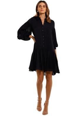 Witchery Stripe Pintuck Dress Navy shirt