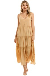 Witchery Tiered Button Front Maxi Dress Sesame