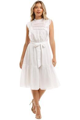Witchery Trim Detail Dress White Tie Waist
